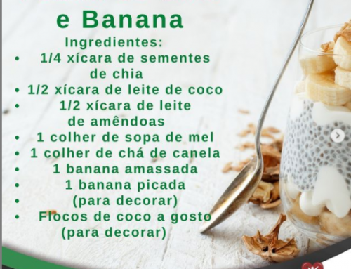 Pudim de chia e banana